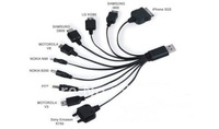 10 In 1 USB Connector Charger Cable For SAMSUNG NOKIA HTC IPOD IPHONE 3G PSP - Charge through USB Port - Not Data Cable 10in1