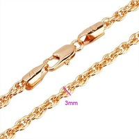 Gold Plated Chain Fashion Jewelry Accessories Cheap Rolo Chain 3mm 116001