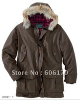 Woolrich Men's Arctic Parka Waterproof Outdoor Down Jackets Overcoat Free Shipping color Brown