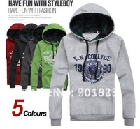 Free shipping New style hot sale mens fashion casual hoodies man slim outwear high quality men hooded jacket 5 colors