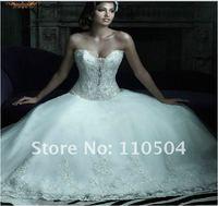 The new Korean princess skirt atmospheric pearl rhinestone crystal wedding dress upscale wedding