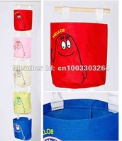 FREE SHIPPING 10pcs/lot New fashion Oxford Fabric household creative wall storage bag hang bag