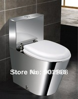 Dual flushing home office hotel bar club bathroom accessories S-trap stainless steel WC  toilet bowl pan