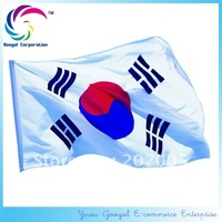 Free Shipping NEW 100% Polyester 90x150cm  Korea Flag, South Korea Flag,CASKFGL