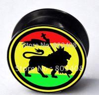 Lion Of Judah screw tunnel  plug ear expander  flesh tunnel ear plug body jewelry  YG00026