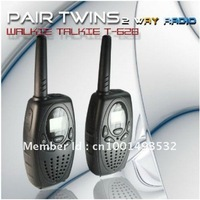 Hot Sales Mini 22 Channels FRS/GMRS LCD Screen T-628 Two-way Radio (2pcs/ pair)