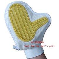 Wholesale - pet massage glove, classic cotton bath brush, the dogs and cats Universal free shipping 20pcs/lot