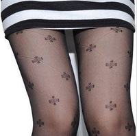 Velvet clovers big grid panty hose