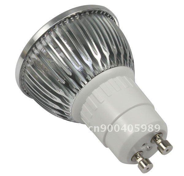 50X High Power Dimmable GU10 4x3W 12W Spotlight Lamp 4 CREE LED 85~265V Light Bulb Downlight