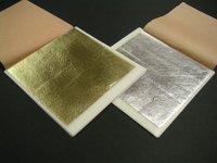 80 Leaves  Imitation Gold Silver Leaf 140mm x 140mm Transfer Leaf Sheet
