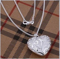 Min order 15USD(MIX)  FS-1 Fashion Jewelry  Silver Plate Jewelry Necklace N224