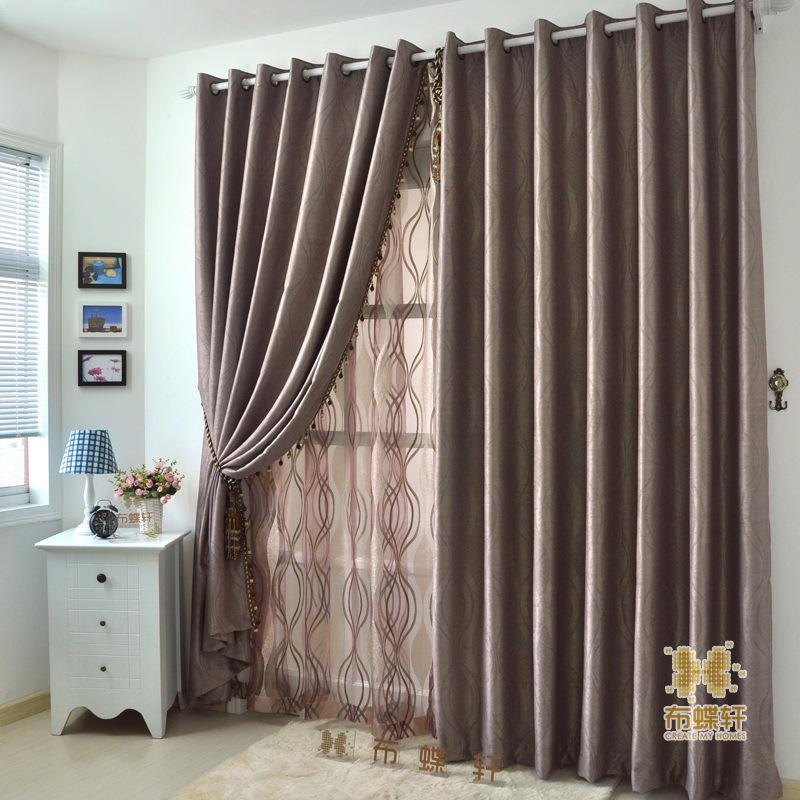 double rideaux moderne images. Black Bedroom Furniture Sets. Home Design Ideas