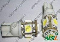 Free shipping T10 5 SMD car bulb