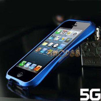 Blue Waistline Aluminum Metal Frame Bumper Case +Protector for iPhone 5 5G 5th