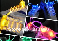 The 2nd Gen Neon Colorful LED Flashing Shoelaces Disco Light up Shoelace Shoe laces 20pairs/lot