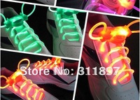The 2nd Gen LED Flashing Shoelaces Disco Light up Neon Colorful Shoelace Shoe laces EMS Free 100pairs/lot