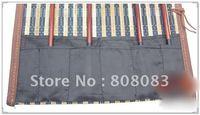 Free shipping medium pocket brush curtain protection brush tool roll pen bag stationery set calligraphy supplies
