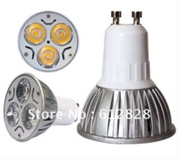 DHL/EMS FREE SHIPPING ! GU10 LED 3X1W Day White or Warm white High Power Spot Light Bulb 3W LED Lamp 86-240V Lighting 100pcs/lot