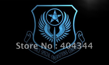 LI196- Air Force Special Operations Comm Neon Sign   hang sign home decor shop crafts led sign