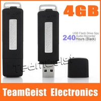 4GB USB Flash Drive Audio Mini Hidden Digital Voice Recorder 240 Hours (Black) & Free Shipping