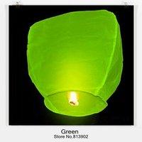 10pcs/lot Free shipping Green Sky Lantern Wishing Lamp SKY LANTERN BIRTHDAY WEDDING PARTY/flying lantern,SL0565