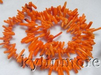 8SE09188a 5 strds 3x10-3x15mm Yellow Coral Chips Beads 15.5''