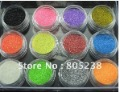 Freeshipping- 12 Pots x 3g Colorful Glitter Circle Paillette Decoration for Nail Art Dropshipping  [Retail]#CC1011
