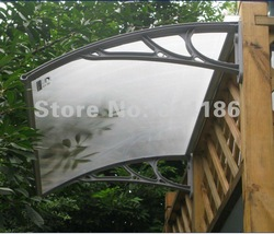 60*80CM 1set,all accesories provided,door canopy ,rain canopy, awning, window cover,polycarbonate awning Matte type(China (Mainland))