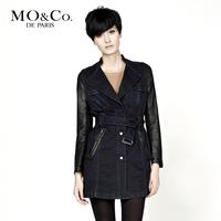Free shipping Mo & co . mormons autumn women's Women m113dut08 tiebelt trench outerwear moco