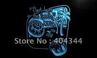 LM203- Beach Bun Bakery Dough Nut Cafe Neon Light Sign   hang sign home decor shop crafts led sign