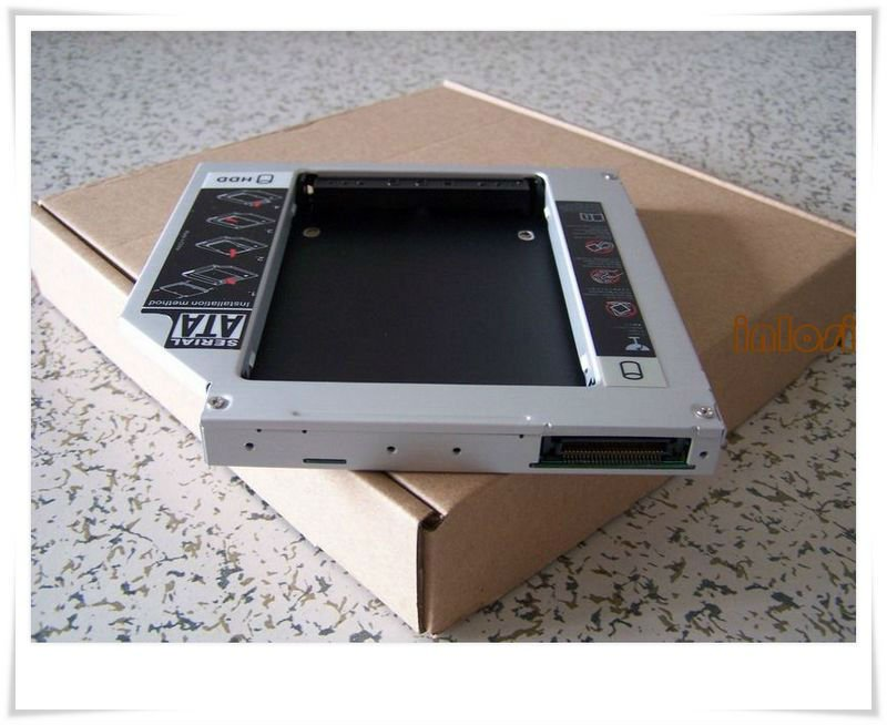 Wholesale 12.7mm PATA TO SATA 2nd HDD Hard Disk Drive Caddy For Laptop Series(China (Mainland))