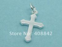 Min order $5 Free shipping 925 Sterling Silver Cross Charm Pendants PA63 DIY Jewelry Fit Bracelet Earring Necklace Wholesale