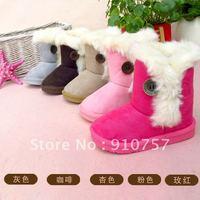 2012 Winter cute boys girls hasp non-slip snow boots / cotton boots / plush warm boots