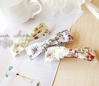 Sunshine jewelry store fashion rustic small fabric bow hair clip hair accessory f19 (min order $10 mixed order)
