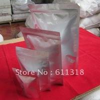 17cmx24cm Silver Pure Aluminum Stand Up Ziplock Plastic Bag 6.691inchx9.95inch