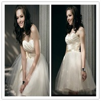 Hot Selling!Special Offer Scalloped Collar Five-layer Bridesmaid Dress Diamond Ornament Plus Size Dresses