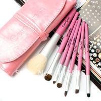 Fashionable women cosmetic brush ,natural goat wool 7 professional brush set makeup brush set