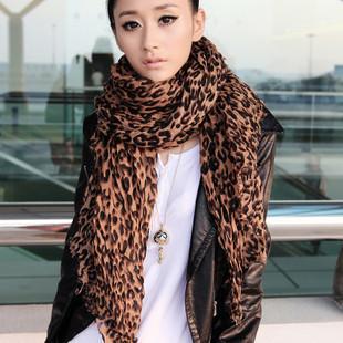 2012 New Style Fashion Winter Woman Scarf  Shawl Wrap Hot Sale Warm Leopard Scarf Long Pashmina 180*95cm HC06
