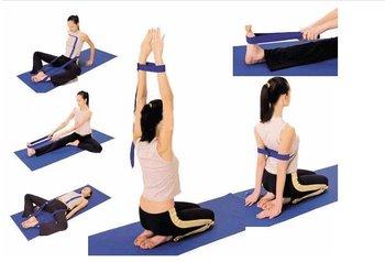 "Free shipping,10 pcs/lot professional 100% Cotton YOGA Belt,Tension rope, 173cmx3.8cm(68""x1.5"") cotton Yoga Strap"