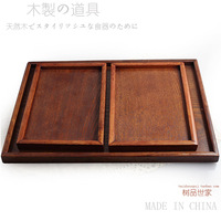 Chinese style  wood pallet tawers rectangle wooden tray set