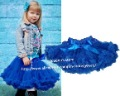 Retail Children Baby Girls Royal Blue Pettiskirt  Princess TuTu Skirts Kids Clothes Free Shipping 1 PCS