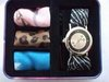 SP115 GIFT SET Vintage Charm Replaceable Silk Bracelet Wristband Quartz Watch  Free shipping wholesale drop shipping