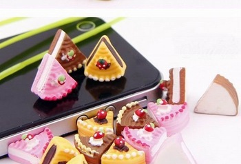 Free shipping,very popular Kawaii adorable flat back resin DIY decorative Creative  fruit butter cake,3color 30 batch