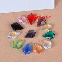 Diy accessories handmade beaded materials crystal pendant baroque crystal pendant multicolor