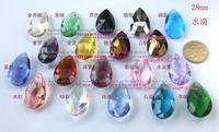 Diy beads 28mm drop pendant gauze pendant crystal pendant teardrop pendant crystal loose beads necklace