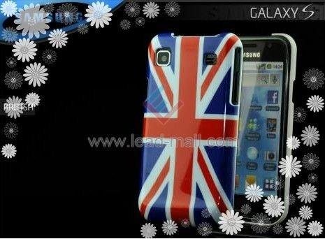 Free shipping UK Flag Pattens Case Hard Plastic Case For Samsung Galaxy I9000(China (Mainland))