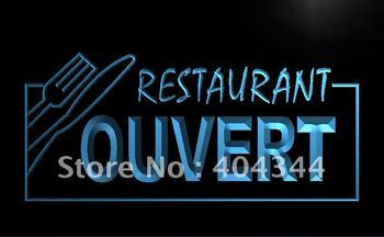 LK184- OUVERT Restaurant OPEN Food Neon Light Sign    home decor shop crafts led sign