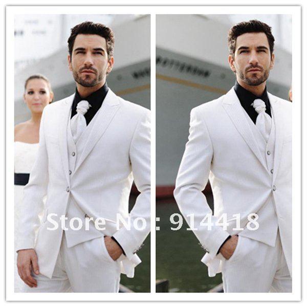 Black Suits For Men Wedding White Men 39 s Wedding Suit