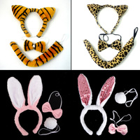 Masquerade child performance props supplies animal piece set