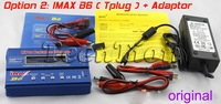 Free shipping Original IMax B6 B6AC Digital LCD Lipo NiMh 2s - 6s battery Balance Charger + adapter(option 2)